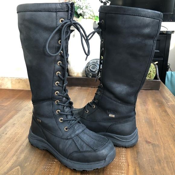 808e17d31d6 UGG Adirondack Tall III Leopard Black Snow Boots